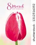 amazing red tulip. flower...   Shutterstock .eps vector #1312516352