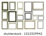 set of vintage silver and wood...   Shutterstock . vector #1312529942