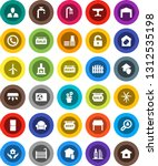 white solid icon set  house... | Shutterstock .eps vector #1312535198