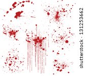 set of various blood or paint... | Shutterstock .eps vector #131253662