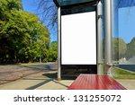 bus shelter ad panel | Shutterstock . vector #131255072