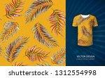 tropical aloha pattern. vector... | Shutterstock .eps vector #1312554998