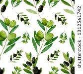 watercolor seamless pattern... | Shutterstock . vector #1312561742
