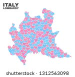 mosaic lombardy region map of... | Shutterstock .eps vector #1312563098