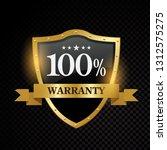 vector 100 percent warranty... | Shutterstock .eps vector #1312575275