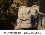 statue of the aztec era. | Shutterstock . vector #1312601582