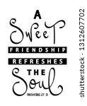 a sweet friendship refreshes... | Shutterstock .eps vector #1312607702