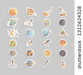 cute cartoon space asrtonaut... | Shutterstock .eps vector #1312624328