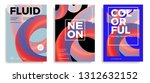set of trendy abstract design... | Shutterstock .eps vector #1312632152