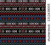 tribal art  ethnic seamless... | Shutterstock .eps vector #1312638005