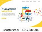 engagement marketing vector... | Shutterstock .eps vector #1312639208