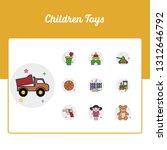 children toys icons set   toy...   Shutterstock .eps vector #1312646792