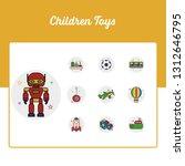 children toys icons set   toy...   Shutterstock .eps vector #1312646795