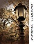 stylish streetlamp in a park | Shutterstock . vector #1312660985