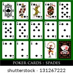 set of cards.all the spades. | Shutterstock .eps vector #131267222