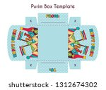 diy template fot purim basket... | Shutterstock .eps vector #1312674302
