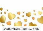 golden hearts background design ... | Shutterstock .eps vector #1312675232