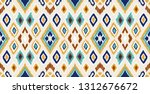 ikat geometric folklore... | Shutterstock .eps vector #1312676672