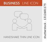 handshake and bubbles vector... | Shutterstock .eps vector #1312681175