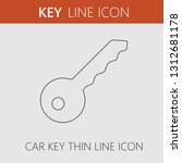 car key vector icon. simple... | Shutterstock .eps vector #1312681178