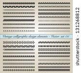 set of vintage calligraphic... | Shutterstock .eps vector #131268812