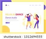 web landing page template with... | Shutterstock .eps vector #1312694555