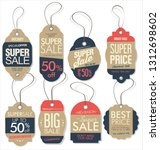 paper price tag retro vintage... | Shutterstock .eps vector #1312698602