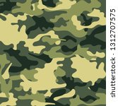 fashionable camouflage pattern  ... | Shutterstock .eps vector #1312707575