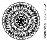 polynesian circular ornament.... | Shutterstock .eps vector #1312713365