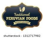 peruvian foods. vector banner. | Shutterstock .eps vector #1312717982