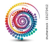 colorful dots swirl abstract... | Shutterstock .eps vector #131272412