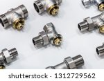 metal pipes  couplings and... | Shutterstock . vector #1312729562