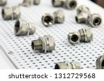 metal pipes  couplings and... | Shutterstock . vector #1312729568