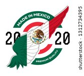 made in the mexico. vector.... | Shutterstock .eps vector #1312734395
