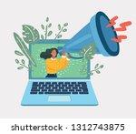 vector cartoon illustration of... | Shutterstock .eps vector #1312743875