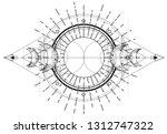 triple moon pagan wicca moon...   Shutterstock .eps vector #1312747322