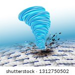 the power to remove dirt on the ... | Shutterstock .eps vector #1312750502