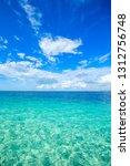 beautiful sky and blue sea | Shutterstock . vector #1312756748