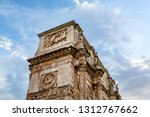 rome   italy july 2018  arch of ... | Shutterstock . vector #1312767662