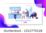 cheerful bank employee and... | Shutterstock .eps vector #1312770128