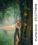 sweet forest angel  nymph with... | Shutterstock . vector #1312770848