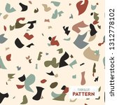 terrazzo flooring vector...   Shutterstock .eps vector #1312778102