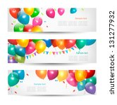 holiday banners with colorful... | Shutterstock .eps vector #131277932