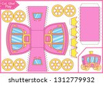 carriage with crown. cut and... | Shutterstock .eps vector #1312779932