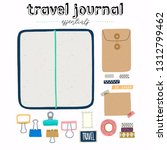 hand drawn flat style travel... | Shutterstock .eps vector #1312799462