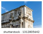 rome   italy july 2018  arch of ... | Shutterstock . vector #1312805642