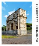 rome   italy july 2018  arch of ... | Shutterstock . vector #1312805645