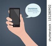 smartphone in hand  vector | Shutterstock .eps vector #131280902