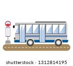 tourist bus  express bus  night ... | Shutterstock .eps vector #1312814195