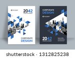 corporate book cover design... | Shutterstock .eps vector #1312825238